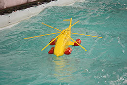 Helicopter Flotation Test Scale Model