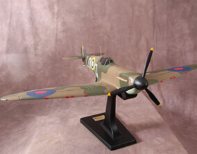 Scale model of a spitfire MK1a