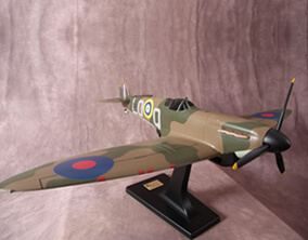 Model of Supermarine spitfire side view