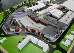 Architectural model of Proposed town centre development