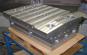 CNC machining of large hydraulic manifold