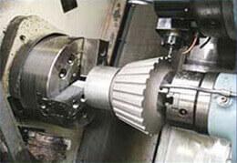CNC machining of main façade casting