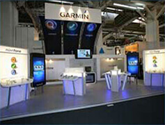 Fully working exhibition models on the stand in Barcelona