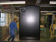 Plasma screens and cooling fans fitted by our model making team