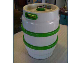 CNC turning used to produce a prototype beer keg exhibition model
