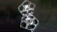 CAD model data generated to enable CNC machining from solid aluminium