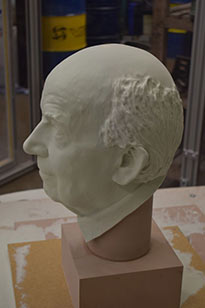 Side View of milled bust