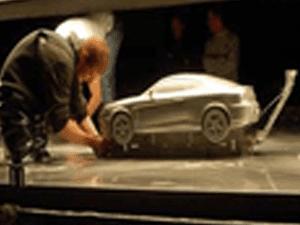 car model for tv advert