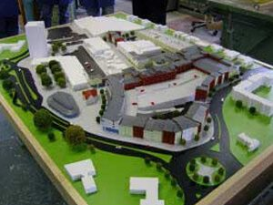 architectural model of town