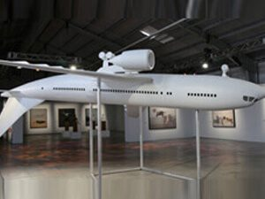 Large airplane model