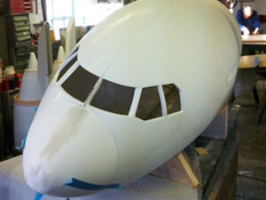 Model maker 8 metre long plane
