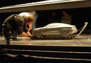 car model for tv advert