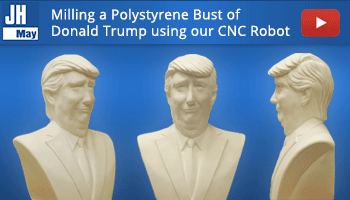 Milling Polystyrene bust