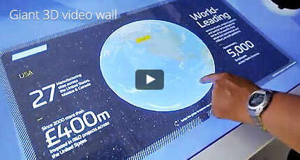Giant 3D video wall