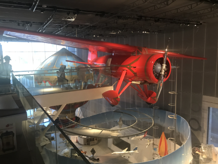 large scale model of a lockheed vega airplane