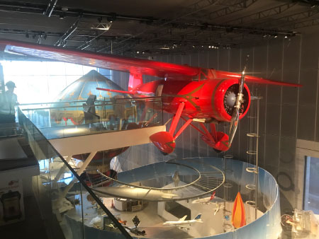 large-scale-model-of-a-lockheed-vega-airplane